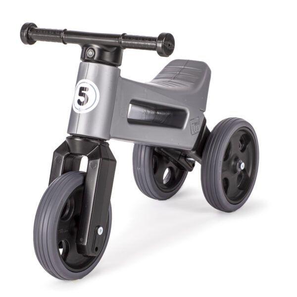 Odrážedlo FUNNY WHEELS Rider Sport2v1 šedé stichými koly