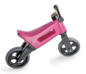 Odrážedlo FUNNY WHEELS Rider Sport2v1 růžové stichými koly bok