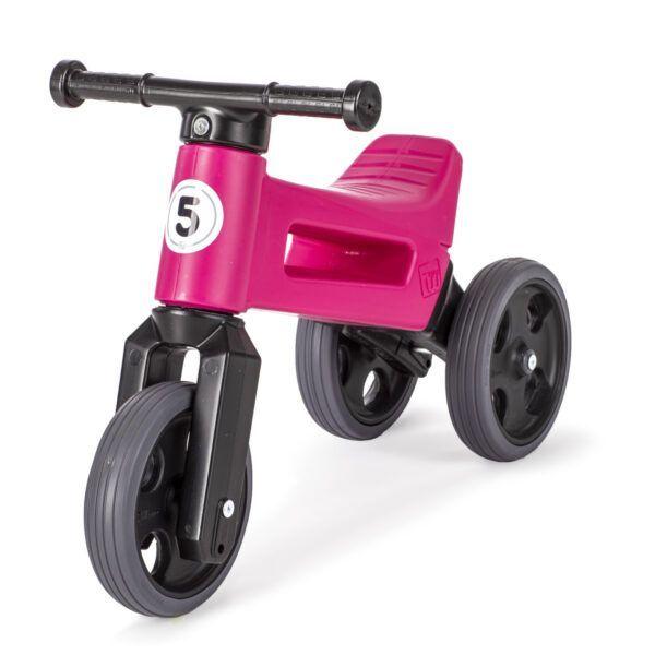 Odrážedlo FUNNY WHEELS Rider Sport2v1 růžové stichými koly