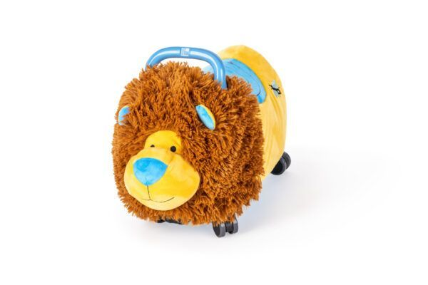 Odrážedlo FUNNY WHEELS Rider Ride-On lvíček plyšový modrý