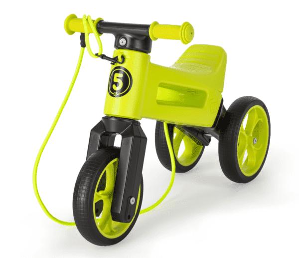 Odrážedlo FUNNY WHEELS Rider SuperSport2v1 zelenéspopruhem a tichými koly