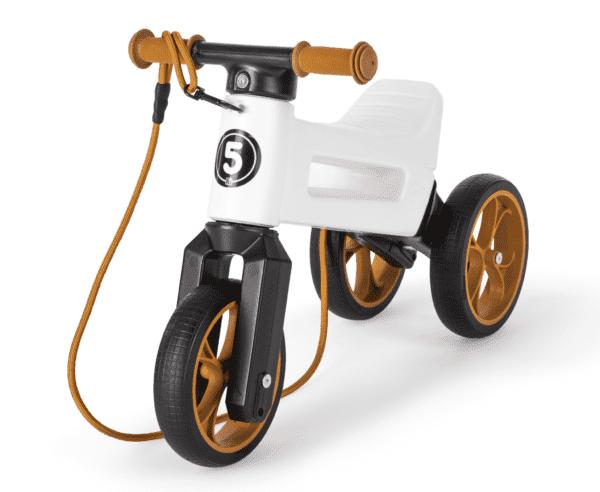 Odrážedlo FUNNY WHEELS Rider SuperSport2v1 bíléspopruhem a tichými koly