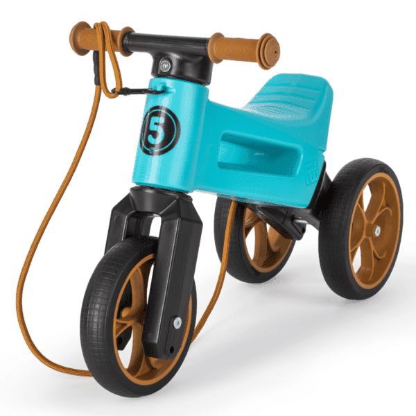 Odrážedlo FUNNY WHEELS Rider SuperSport2v1 modréspopruhem a tichými koly