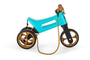 Odrážedlo FUNNY WHEELS Rider SuperSport2v1 modréspopruhem a tichými koly bok