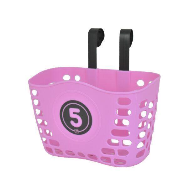 Růžový košík na dětské odrážedlo FUNNY WHEELS Rider