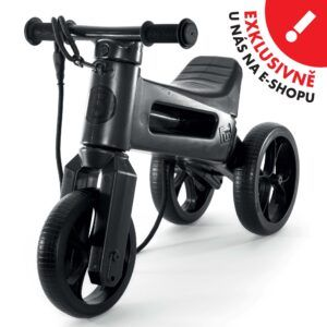 Odrážedlo FUNNY WHEELS Rider SuperSport2v1 černéspopruhem a tichými koly